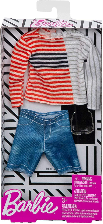 Дрехи за кукла Mattel Barbie - Блуза с къси панталони и очила, за Кен - 2