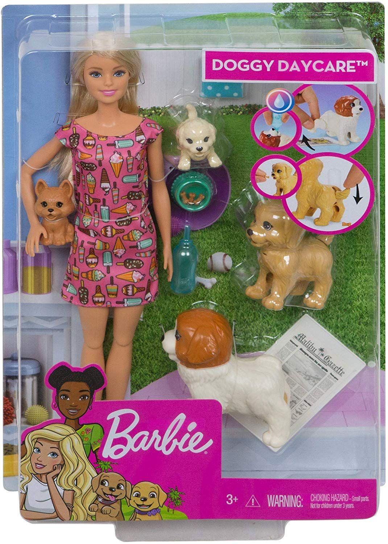 Игрален комплект Mattel Barbie - Барби с 4 кученца - 1