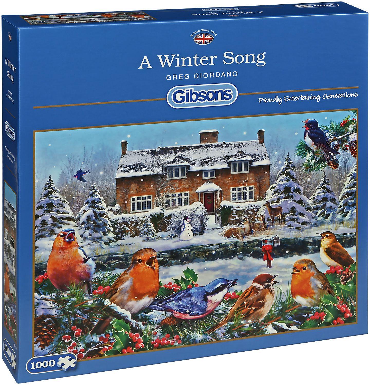 Пъзел Gibsons от 1000 части - Зимна песен, Грег Джордано - 1