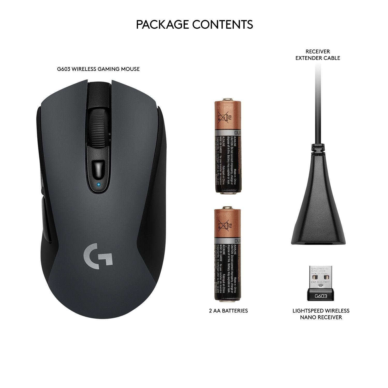 Гейминг мишка Logitech G603 Lightspeed - оптична, безжична - 9