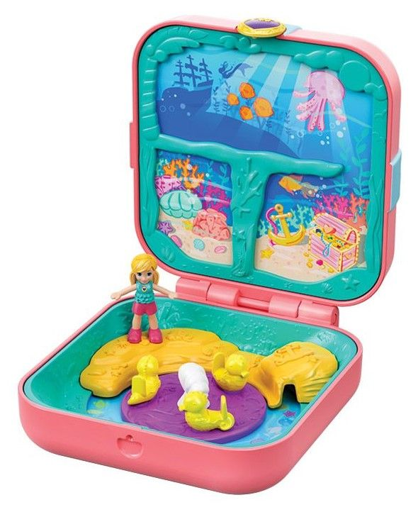 Игрален комплект Mattel Polly Pocket - Скрито съкровище, асортимент - 2