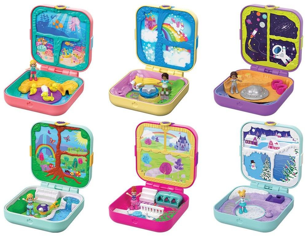 Игрален комплект Mattel Polly Pocket - Скрито съкровище, асортимент - 1