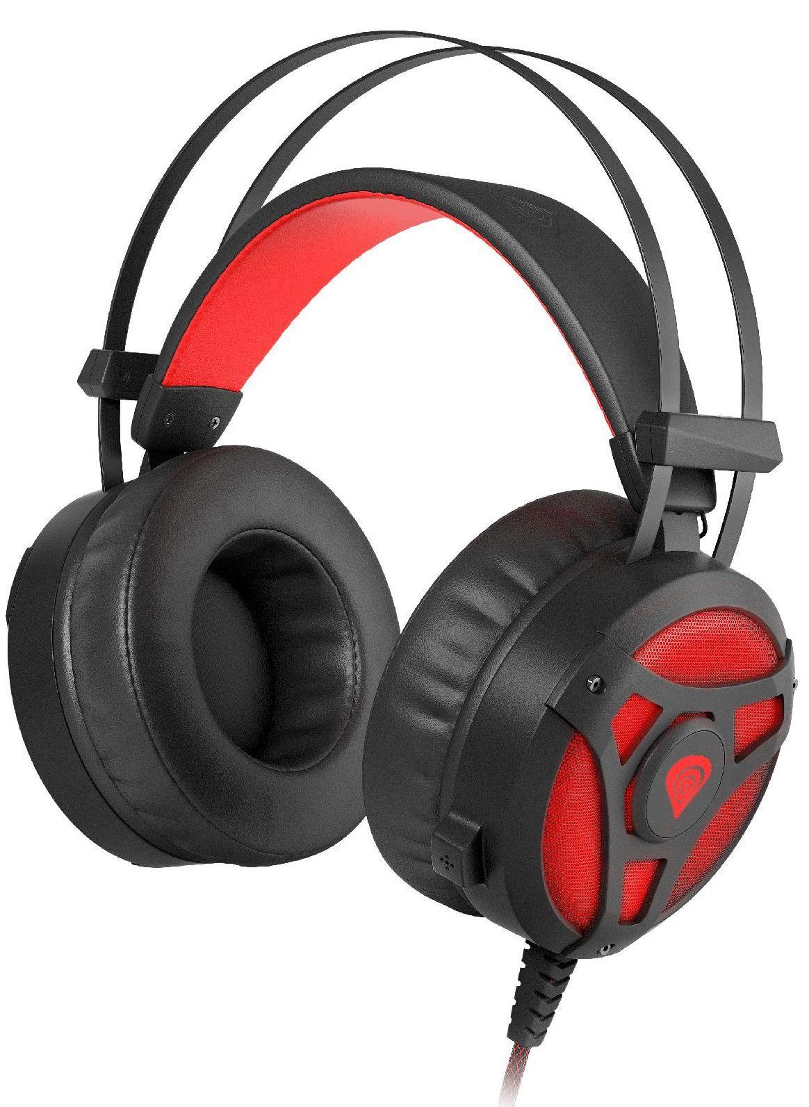 Гейминг слушалки Genesis Neon 360 - черни/червени - 1