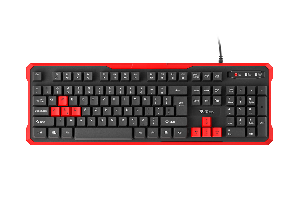 Гейминг клавиатура Genesis RHOD 110 - черна/червена - 2