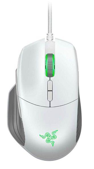 Гейминг мишка Razer Basilisk - Mercury Edition, бяла - 2