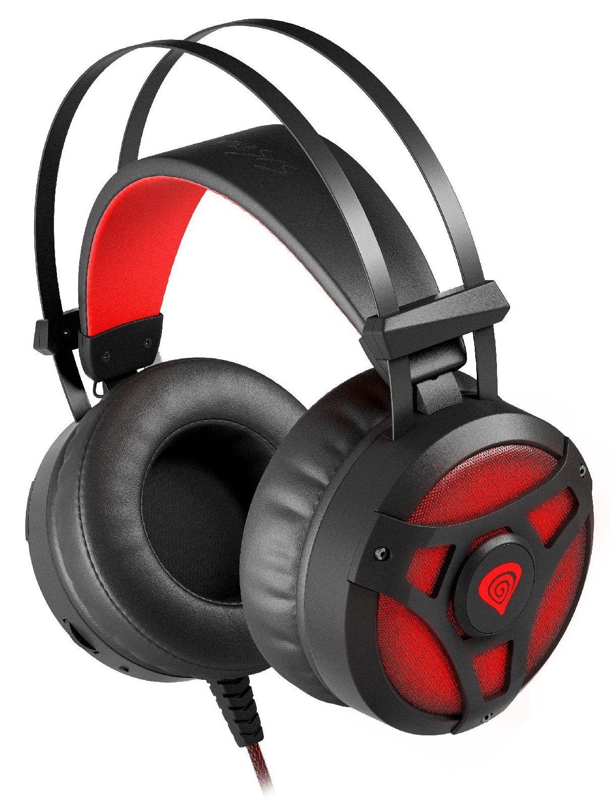 Гейминг слушалки Genesis Neon 360 - черни/червени - 3