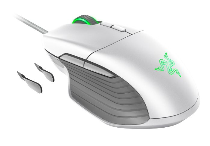 Гейминг мишка Razer Basilisk - Mercury Edition, бяла - 3