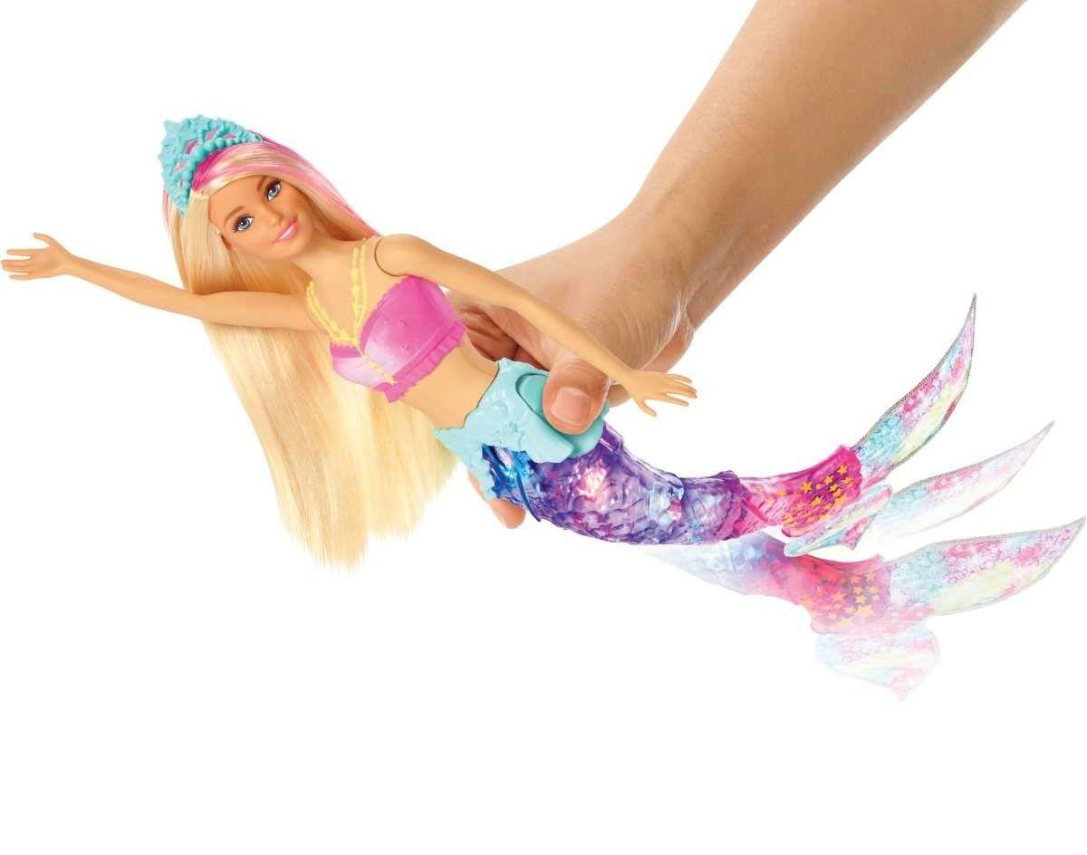 Кукла Mattel Barbie - Русалка със светеща опашка - 7