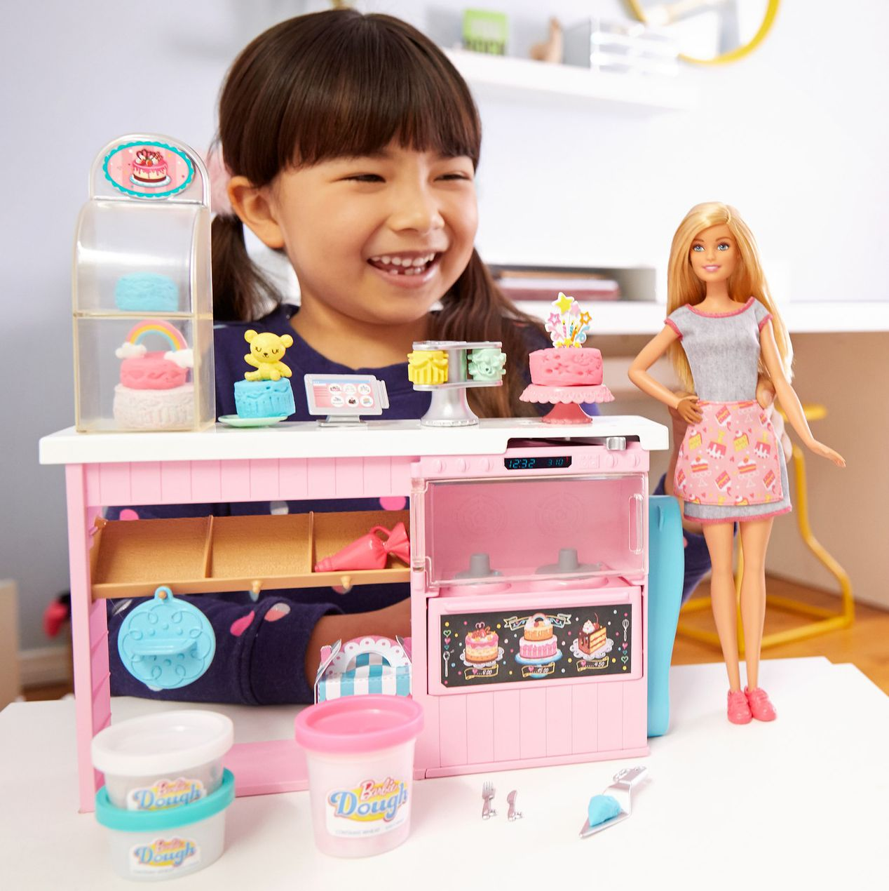 Игрален комплект Mattel Barbie - Приготвяне на сладкиши - 11