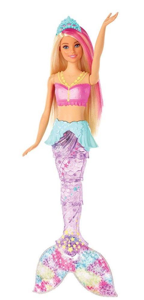 Кукла Mattel Barbie - Русалка със светеща опашка - 1