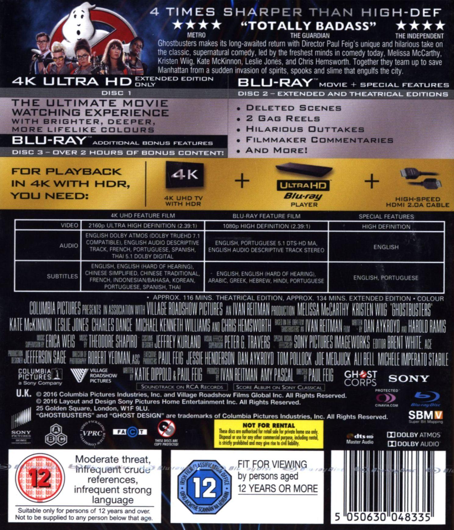 Ghostbusters (4K UHD + Blu-Ray) - 2