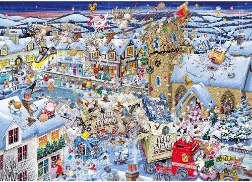 Пъзел Gibsons от 1000 части - Обичам Коледа, Майк Джуп - 2