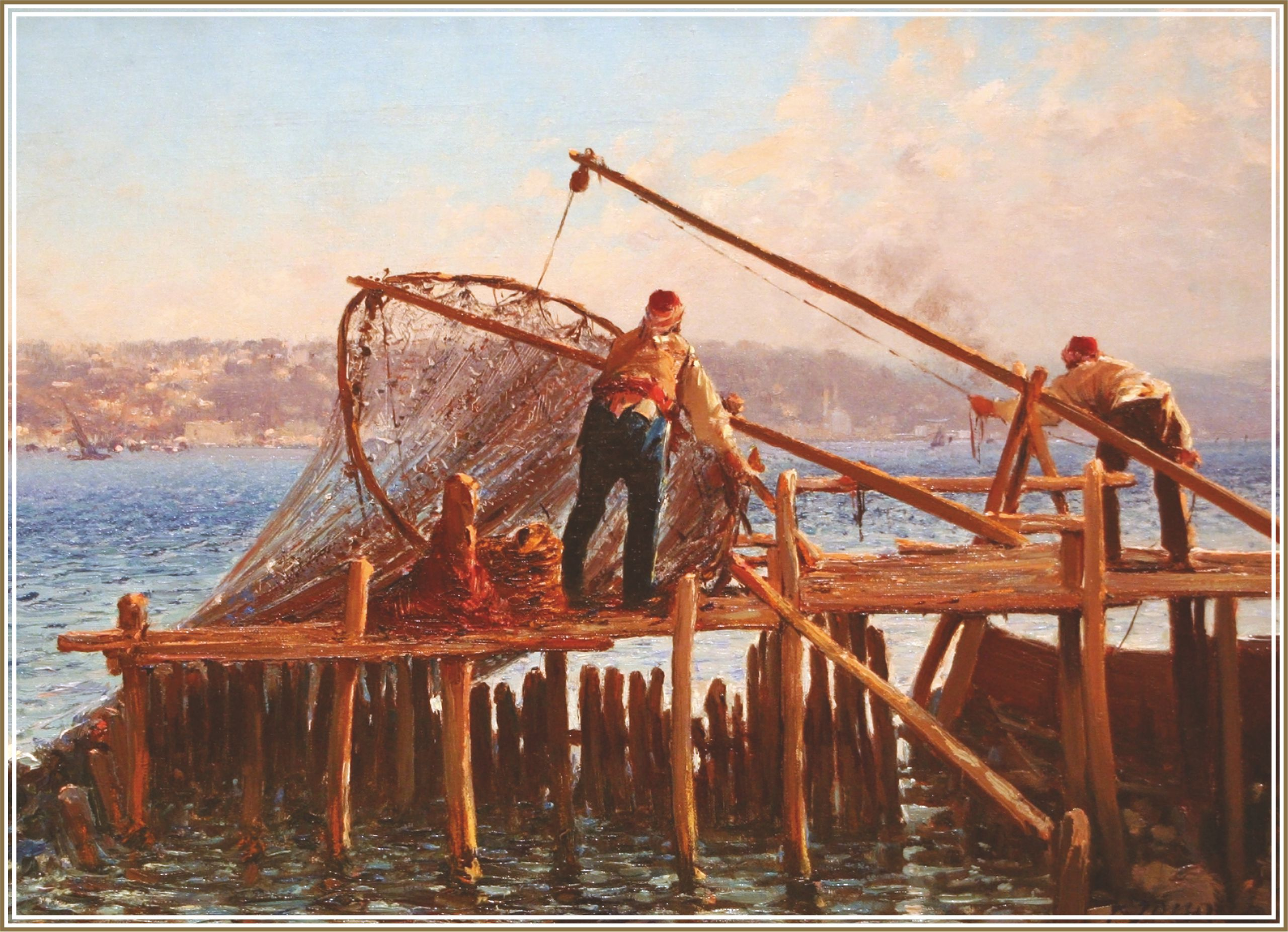Пъзел Gold Puzzle от 1000 части - Рибарите въвеждат улова - 1