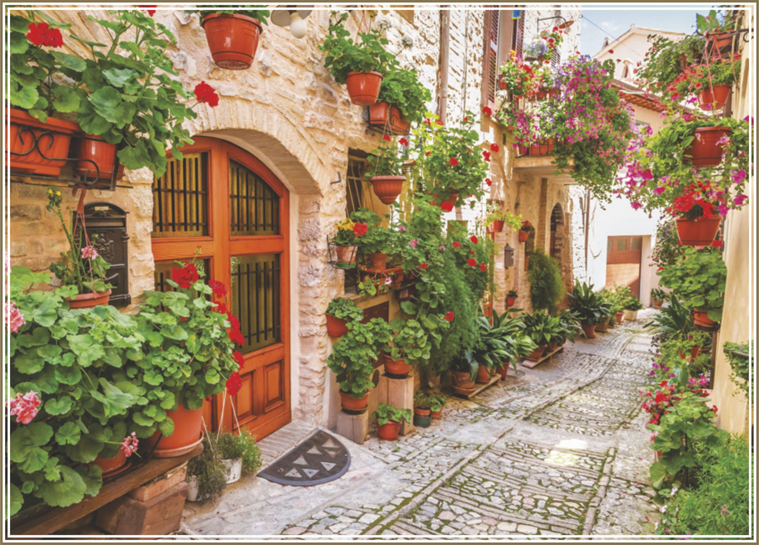 Пъзел Gold Puzzle от 1000 части - Улица в Италия - 1
