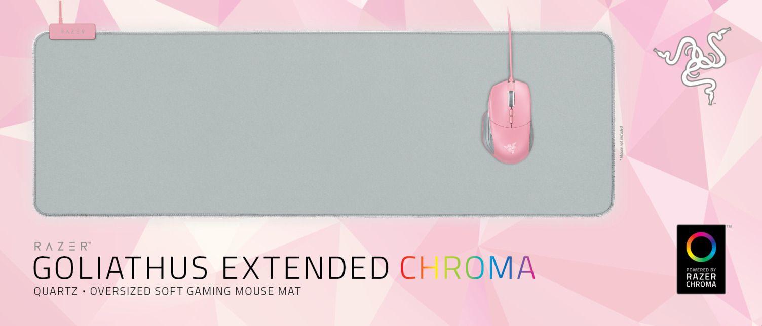 Подложка за мишка Razer Goliathus Extended Chroma - Quartz, сива - 4