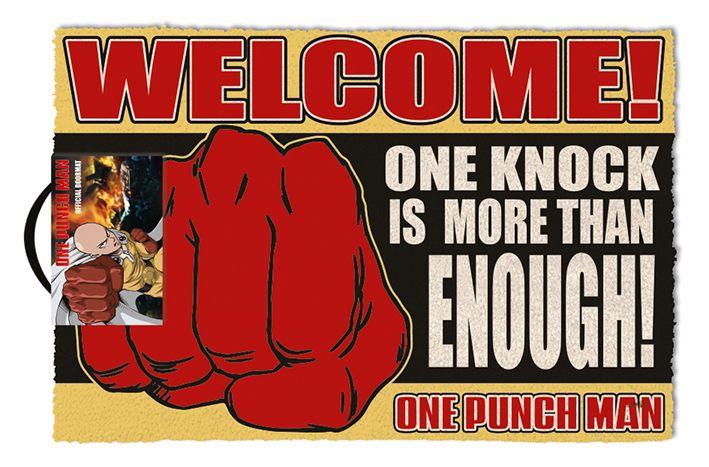 Изтривалка за врата Pyramid - One Punch Man (One Knock), 60 x 40 cm - 1