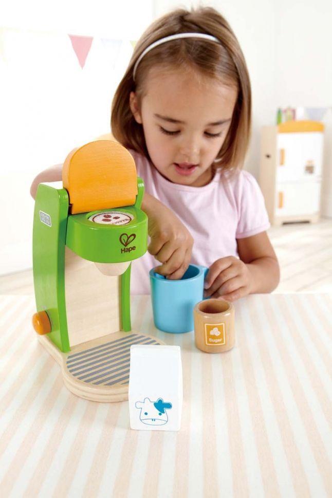 Дървени кухненски уреди  Hape - Кафе машина - 3