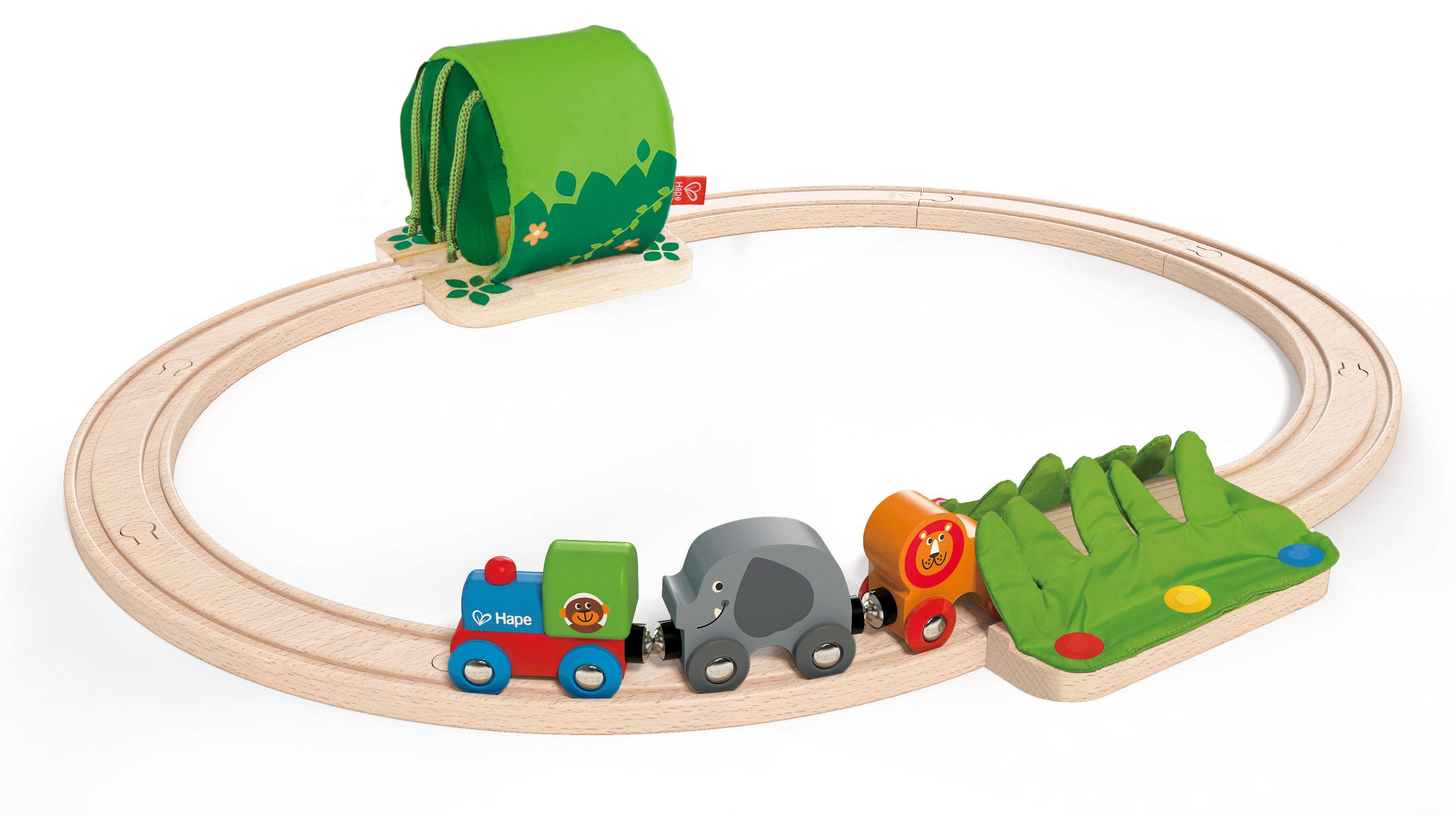 Игра Hape - Пътешествие с влак в джунглата - 1