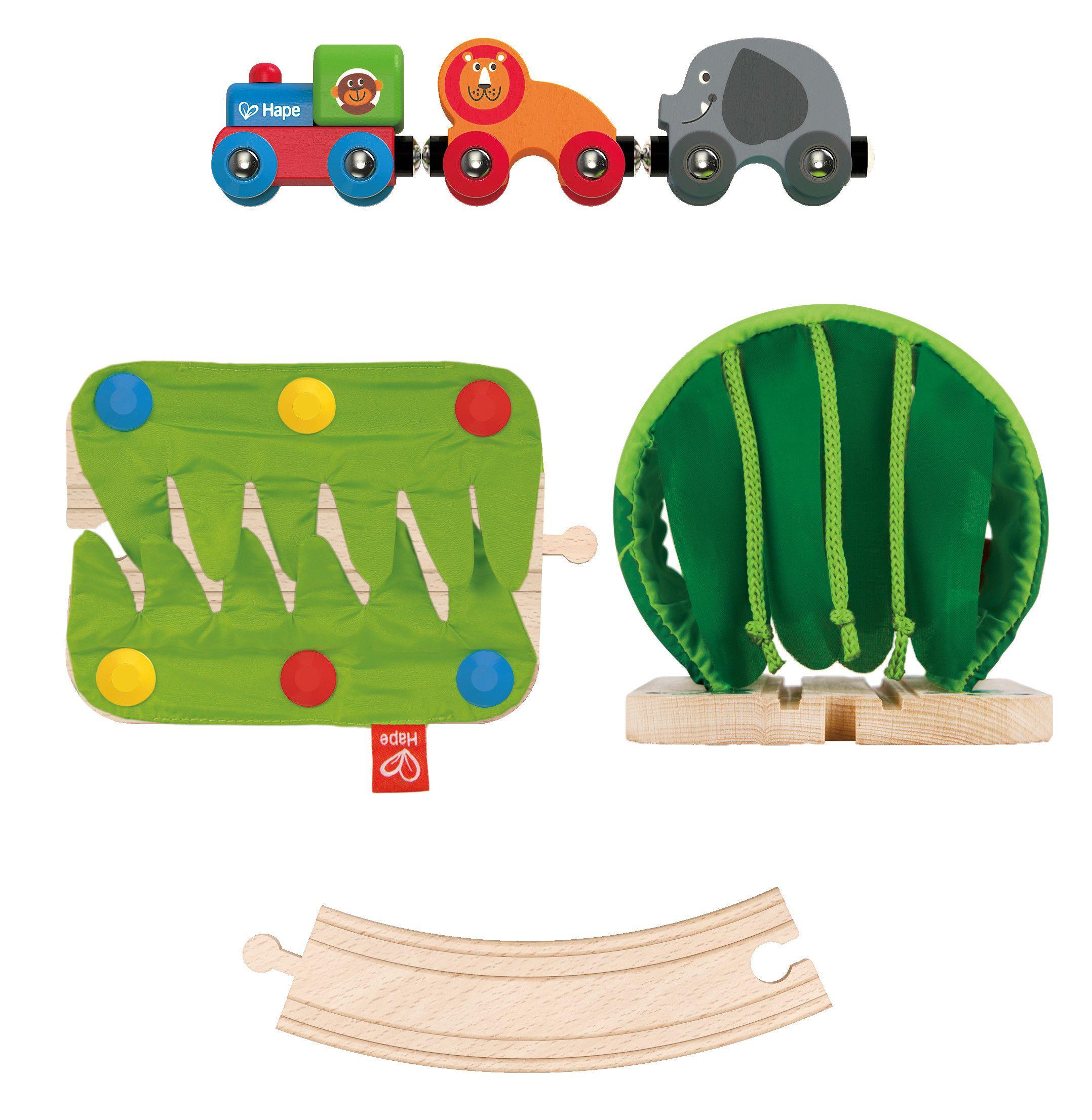 Игра Hape - Пътешествие с влак в джунглата - 4