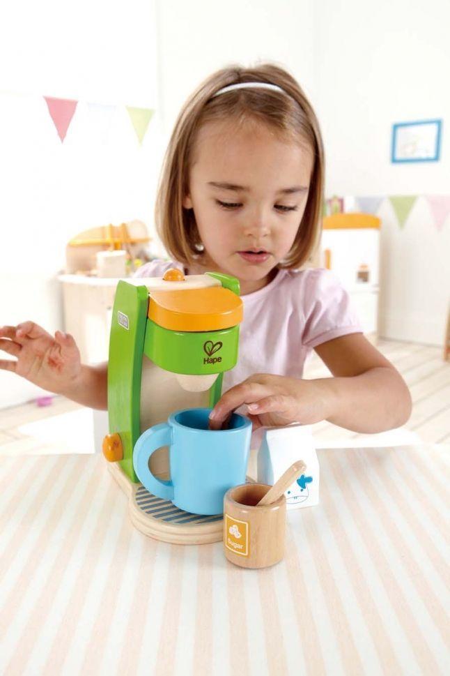 Дървени кухненски уреди  Hape - Кафе машина - 2