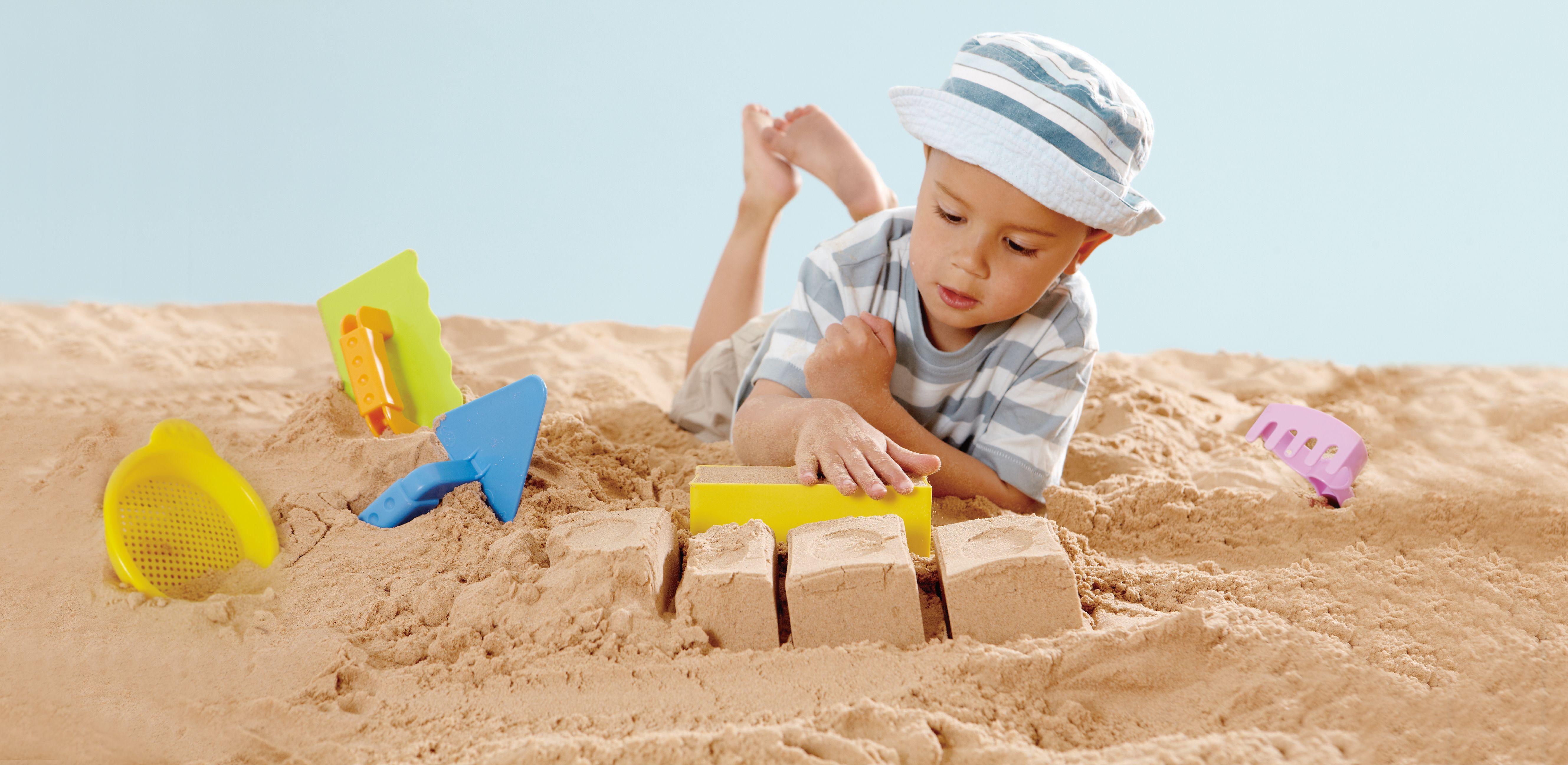 Пясъчна играчка Hape - Майстор зидар, комплект - 2