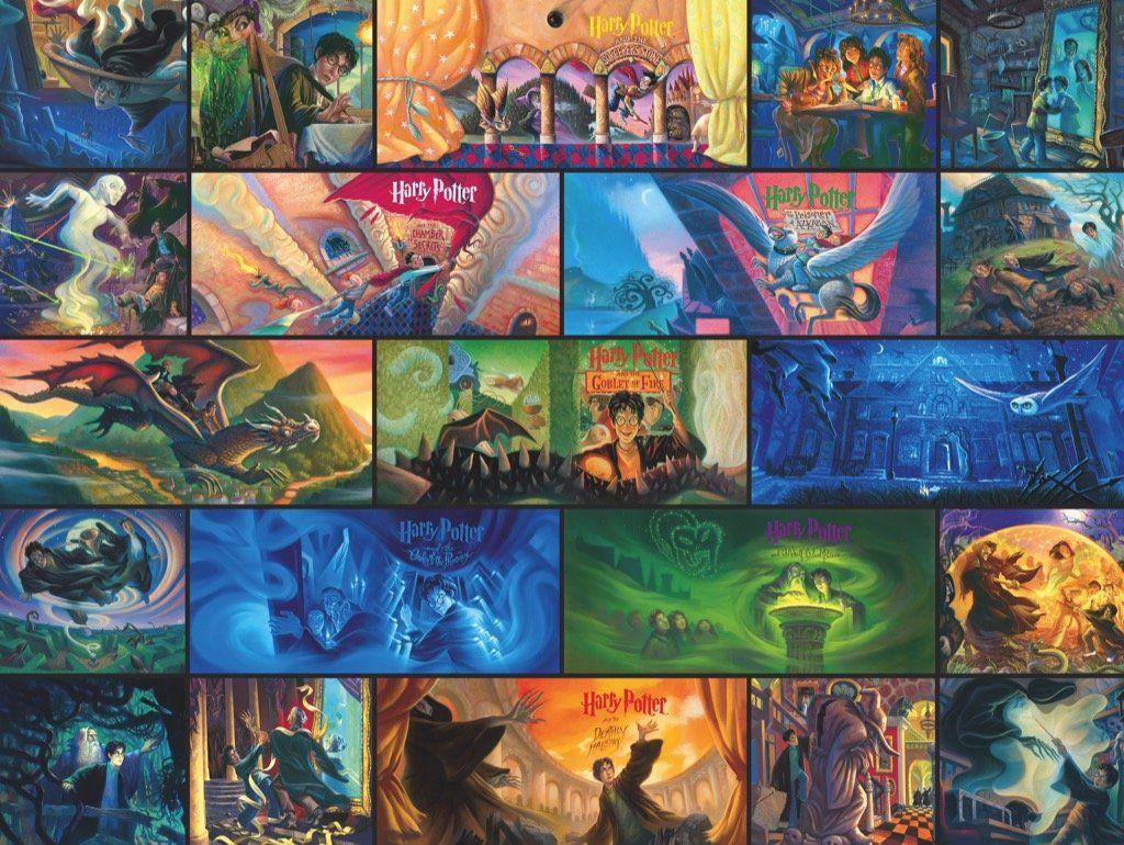 Пъзел New York Puzzle от 1000 части - Хари Потър, колаж - 1
