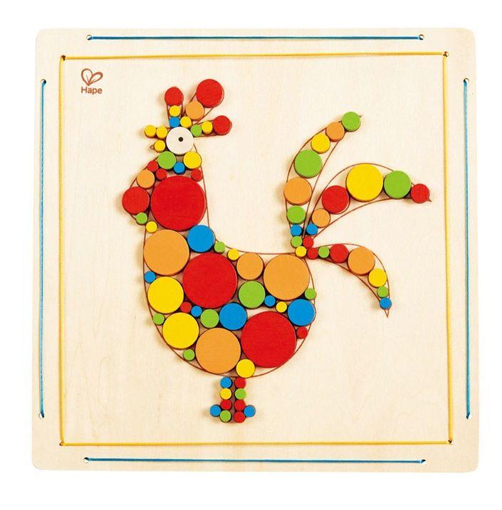 Детска дървена мозайка – Петле - 1