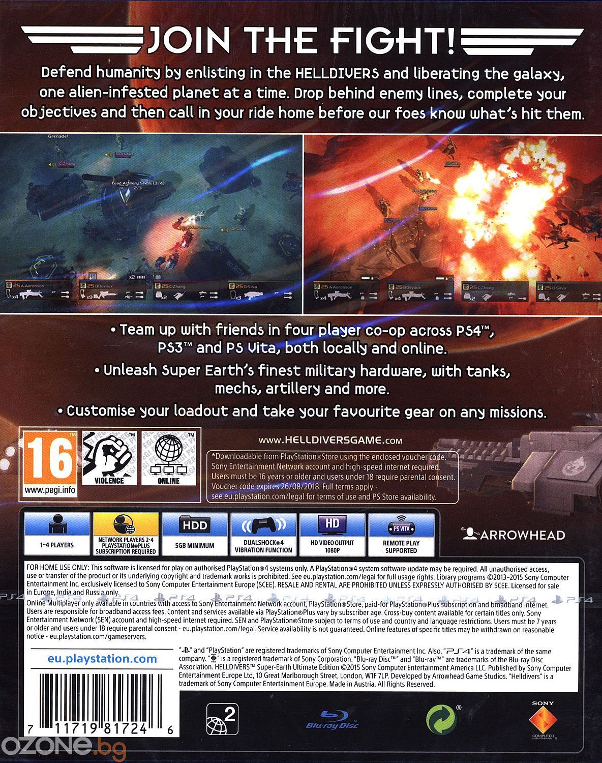 HellDivers Super-Earth Ultimate Edition (PS4) - 12