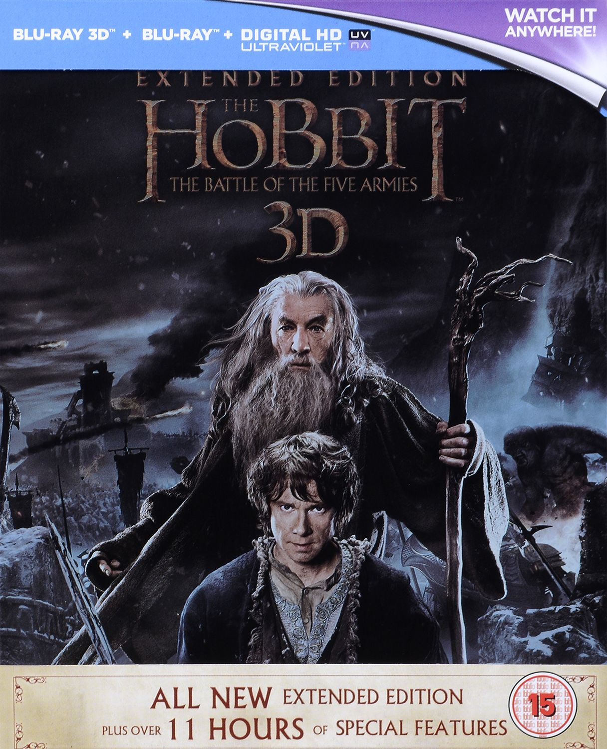 The Hobbit: The Battle Of The Five Armies - Steelbook Extended Edition 3D+2D (Blu-Ray) - 2
