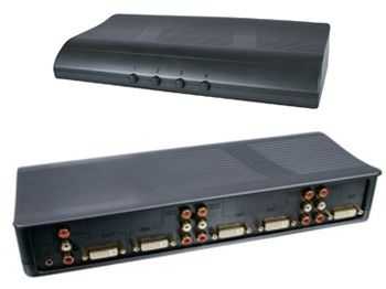 Превключвател HQ 4 Port DVI Switch with Audio - 2