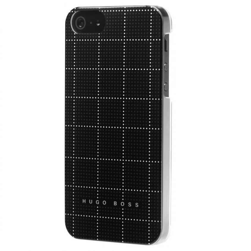 HUGO BOSS Squares Hardcover за iPhone 5 -  черен - 2