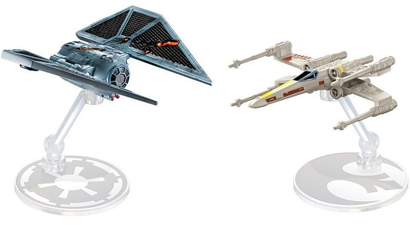 Комплект звездни кораби Mattel Hot Wheels Star Wars - Rogue One, Raven Red 5 Deluxe vs X-Wing - 1