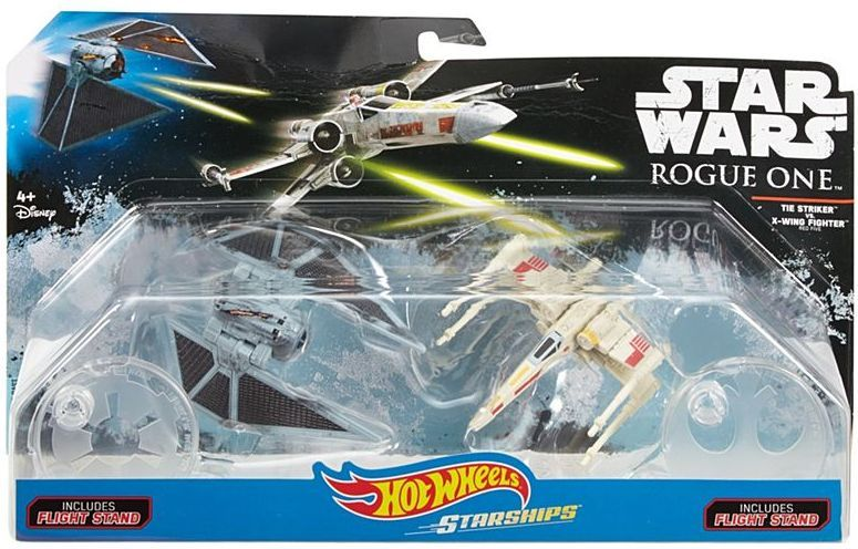 Комплект звездни кораби Mattel Hot Wheels Star Wars - Rogue One, Raven Red 5 Deluxe vs X-Wing - 2