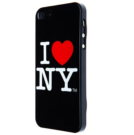 I love New York за iPhone 5 -  черен - 1