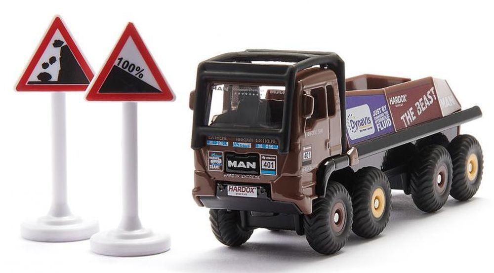 Метална количка Siku Super - Строителен камион HS Schoch 8x8 MAN - 2