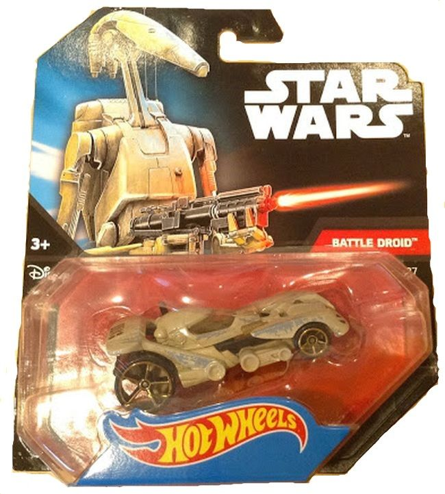 Количка Mattel Hot Wheels Star Wars - Battle Droid, 1:64 - 4