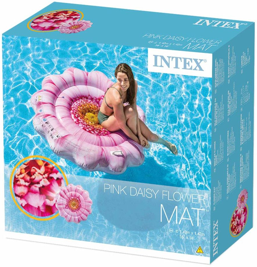 Надуваем дюшек Intex - Розов гербер, 142 cm - 4