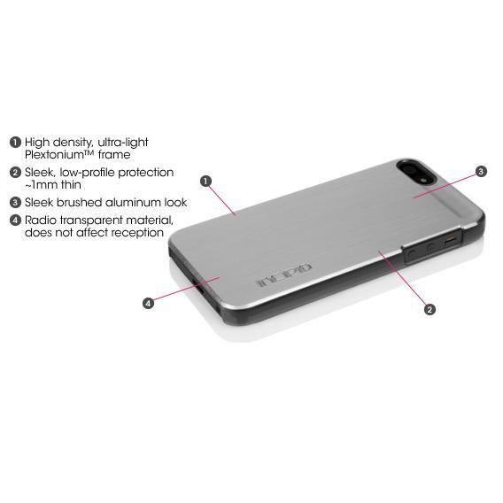 Калъф Incipio Feather Shine за iPhone 5, Iphone 5s -  сребрист - 5