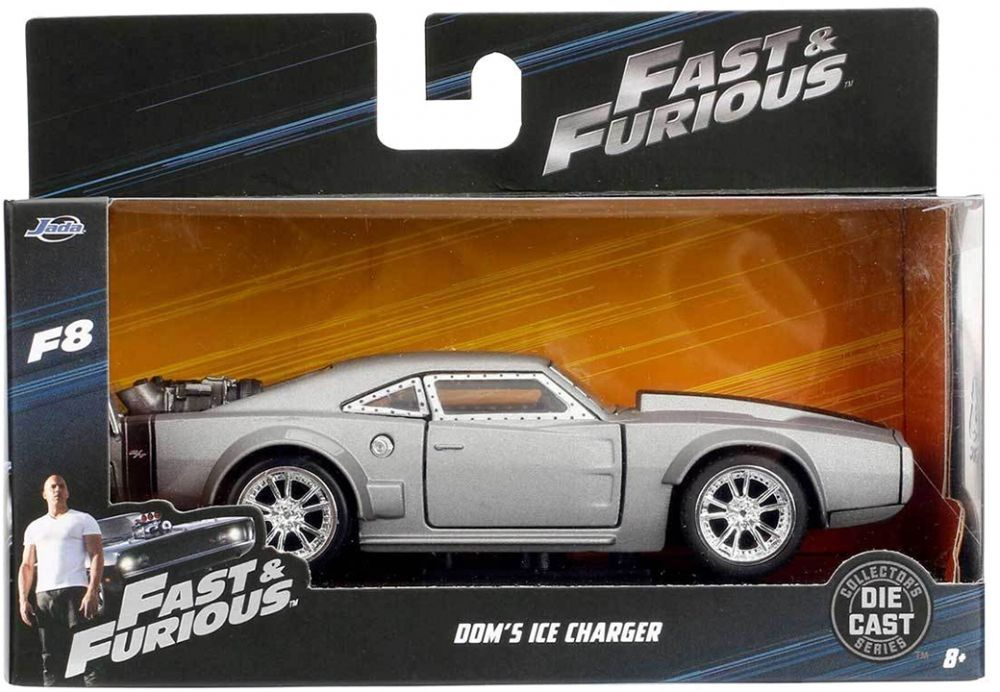 Фигура Metal Die Cast Fast & Furious - Dom's Ice Charger, мащаб 1:32 - 4