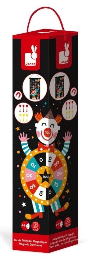 Детска игра Janod - Магнитен дартс, с цирк - 1