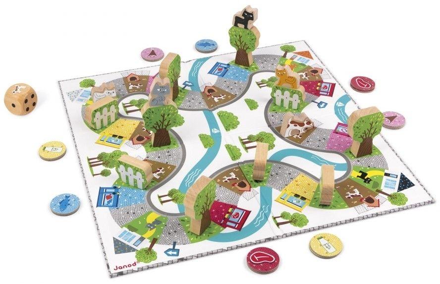 Детска състезателна настолна игра Janod - Гонки - 4