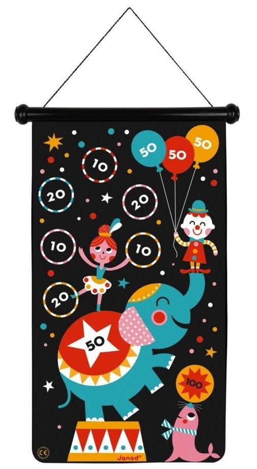 Детска игра Janod - Магнитен дартс, с цирк - 2