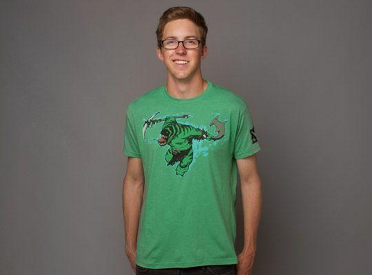 Тениска Dota 2 Tidehunter + Digital Unlock, зелена, размер M - 3
