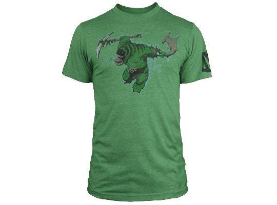 Тениска Dota 2 Tidehunter + Digital Unlock, зелена, размер M - 1