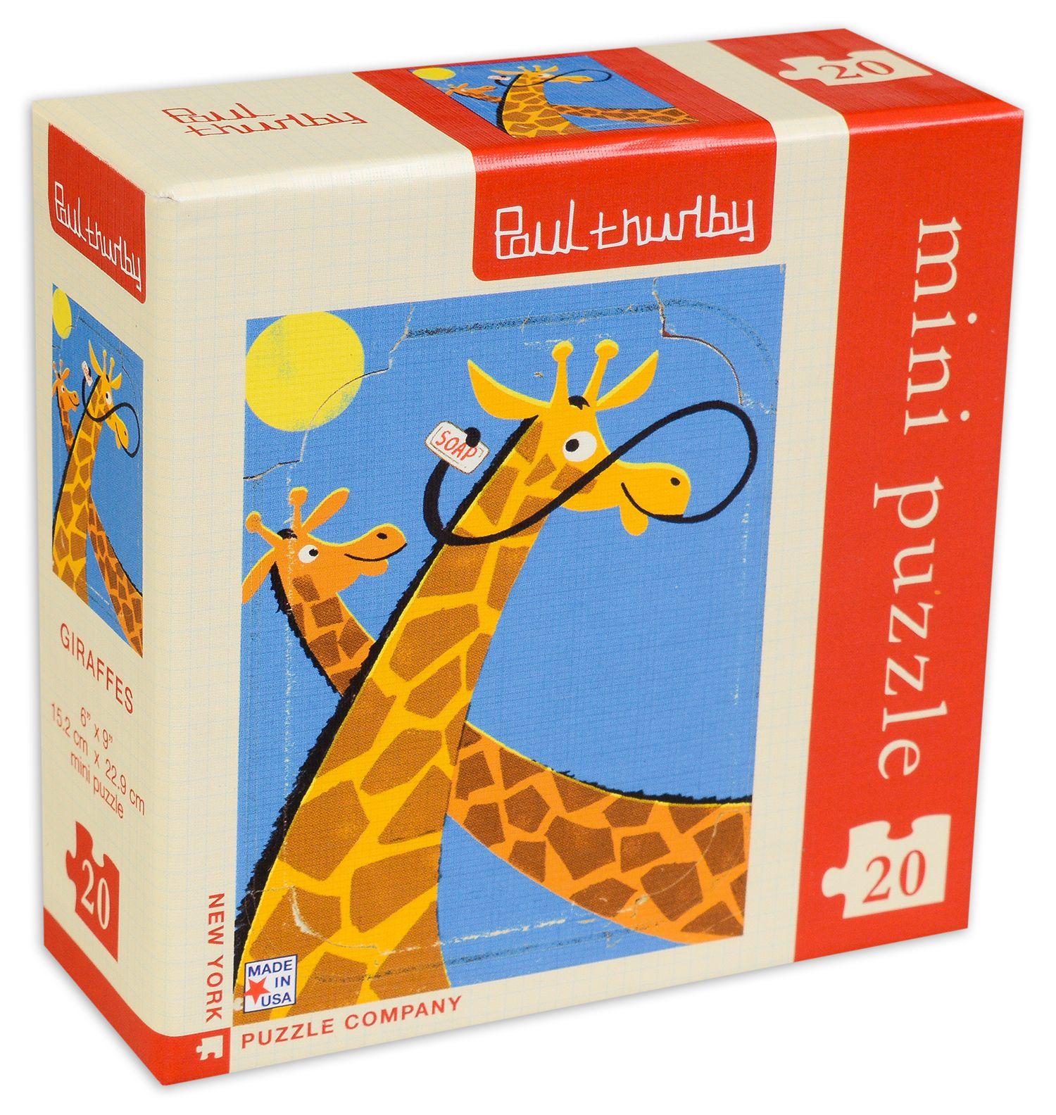 Мини пъзел New York Puzzle от 20 части - Жирафи - 2