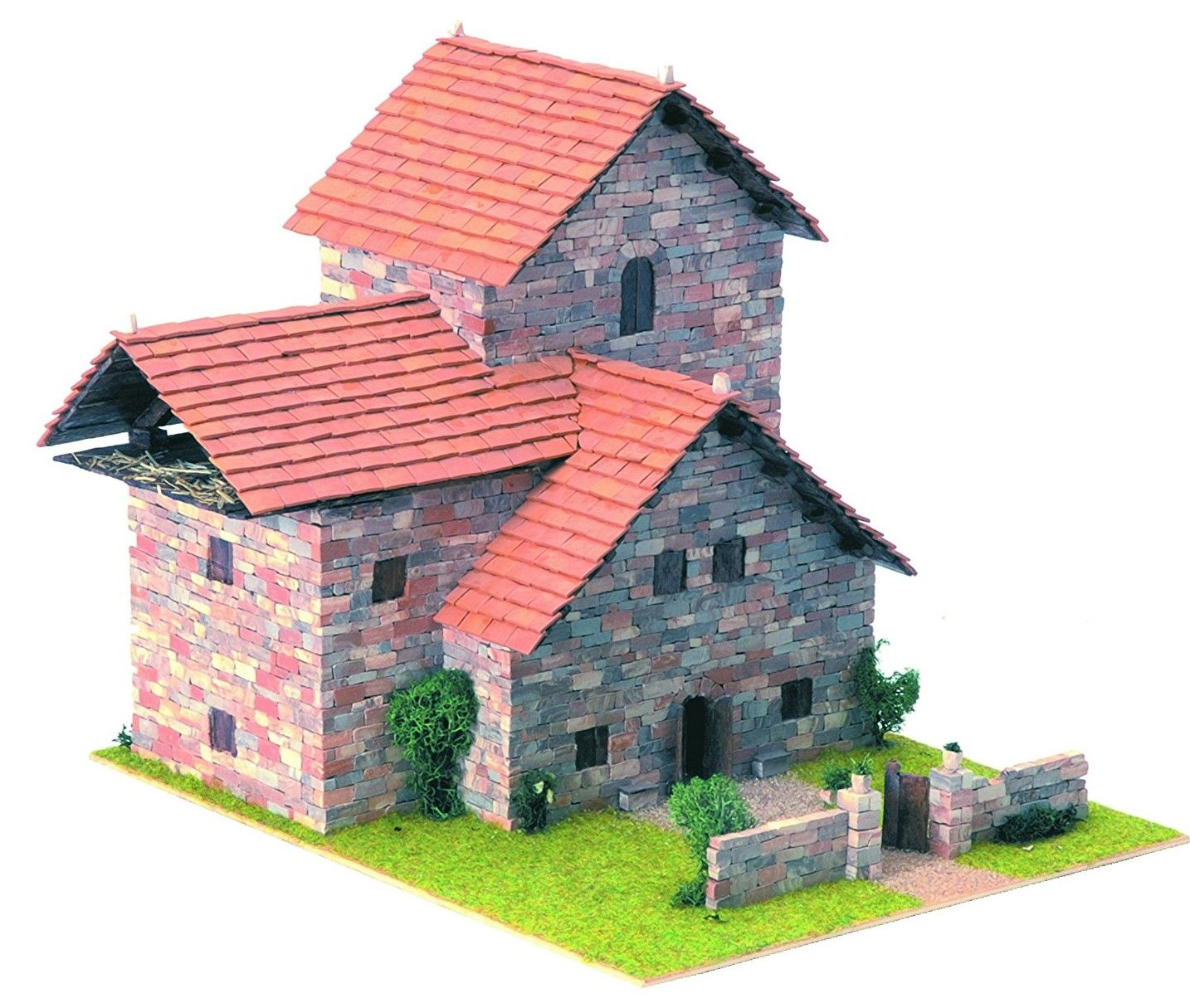 Сглобяем модел Domus Kits - Къща Рустика 5, Макет с истински тухли - 1