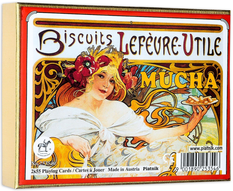 Карти за игра Piatnik - Mucha Biscuits (2 тестета) - 1