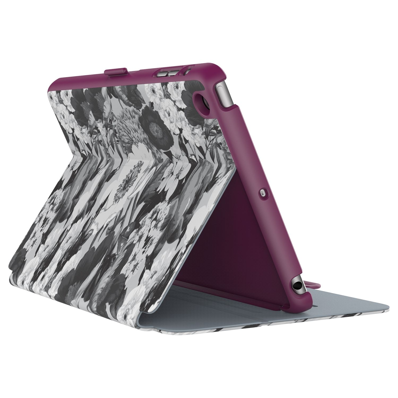 Калъф Speck iPad Mini 4 StyleFolio Vintage Bouquet Grey/Nickel Grey/Boysenberry Purple - 1