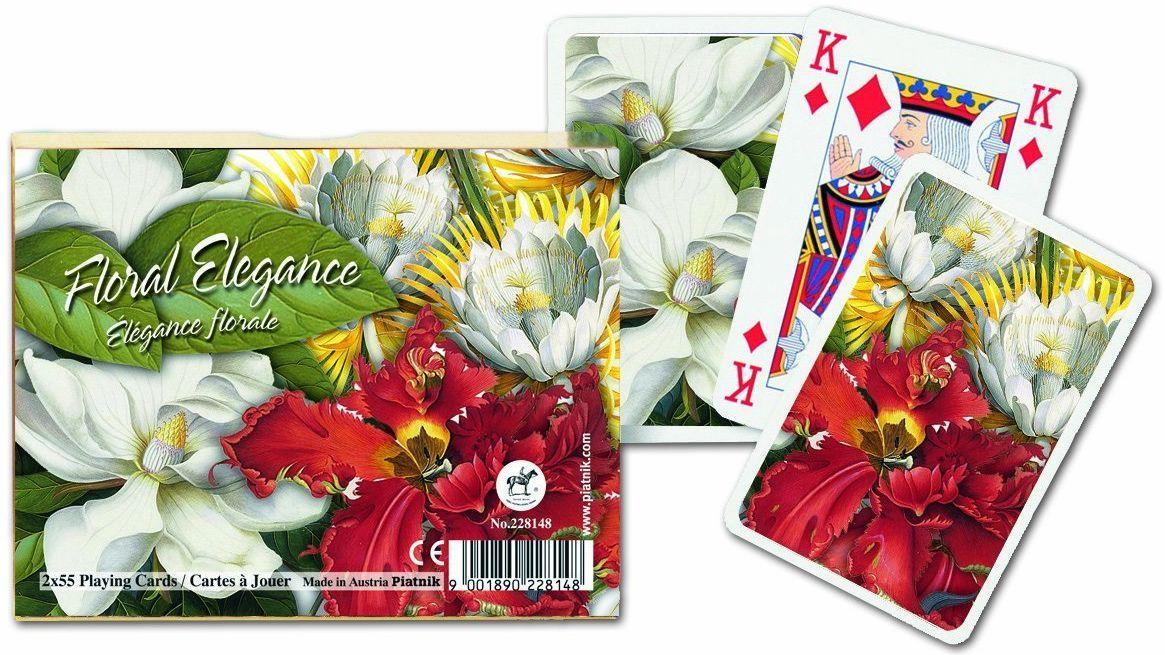 Карти за игра Piatnik - Floral Elegance (2 тестета) - 3