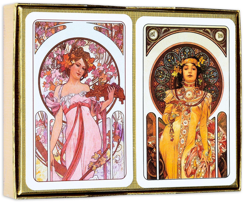 Карти за игра Piatnik - Mucha Biscuits (2 тестета) - 2